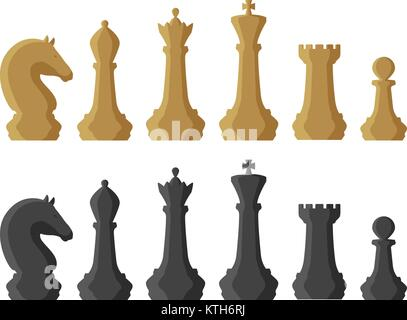 Chess pieces. Game concept. Vector illustration - Stock Photo