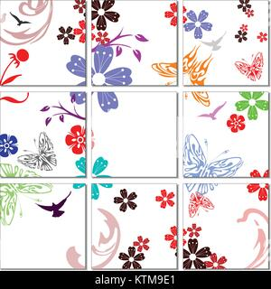 Ceramic  tiles background. Colored vector illustration for designers - Stock Photo