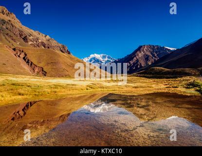 Mount aconcagua in mendoza andes mountain range border for Espejo 70 mendoza