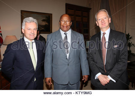 Foreign Office Minister Henry Bellingham and Minister of State for International Development Alan Duncan meeting - Stock Photo