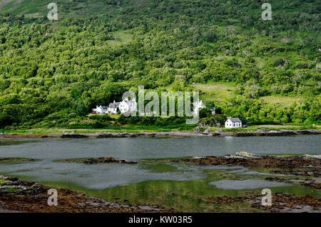 Scotland, cottage in Kinloch lodge on the Isle of Skye, Schottland, Cottage in Kinloch lodge auf der  Isle of Skye - Stock Photo