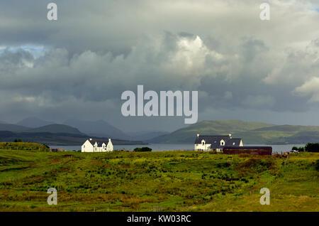 Scotland, cottage on the Isle of Skye, Schottland, Cottage auf der Isle of Skye - Stock Photo