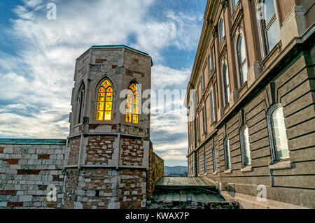 Part of Budapest History Museum, Castle area, Hungary. - Stock Photo