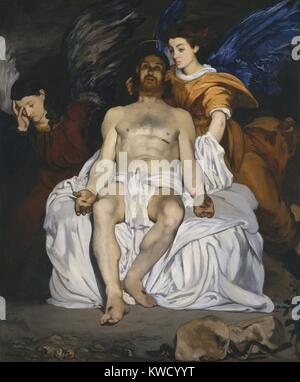 The Dead Christ with Angels, by Edouard Manet, 1864, French impressionist painting, oil on canvas (BSLOC201736) - Stock Photo