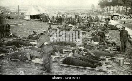 wounded men on stretchers western front ww1 stock photo 66161904 alamy. Black Bedroom Furniture Sets. Home Design Ideas