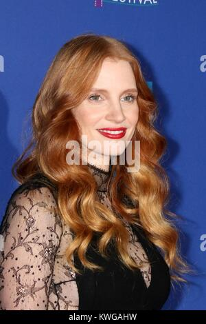 Palm Springs, California, USA. 2nd Jan, 2018. Jessica Chastain at arrivals for 29th Annual Palm Springs International - Stock Photo