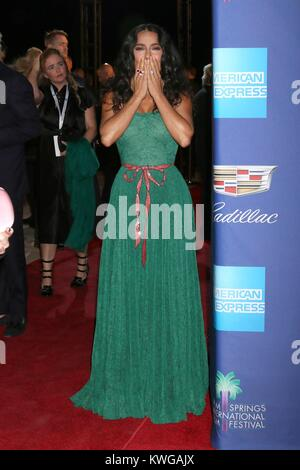 Palm Springs, California, USA. 2nd Jan, 2018. Salma Hayek at arrivals for 29th Annual Palm Springs International - Stock Photo