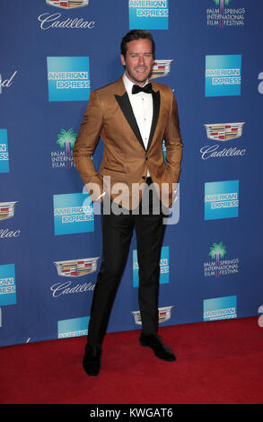 Palm Springs, Ca. 2nd Jan, 2018. Armie Hammer, at 29th Annual Palm Springs International Film Festival Awards Gala - Stock Photo