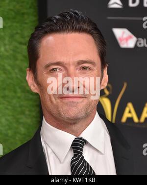 Hollywood, California, USA. 5th Jan, 2018. Hugh Jackman arrives for the AACTA International Awards at Avalon Hollywood. - Stock Photo