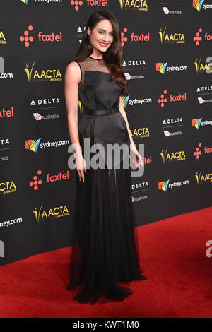Hollywood, California, USA. 5th Jan, 2018. Mallory Jansen arrives for the AACTA International Awards at Avalon Hollywood. - Stock Photo