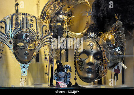 Carnival masks on sale in Venice, Italy - Stock Photo