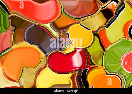 Abstract background like smeared paint on the palette. Illustration - Stock Photo
