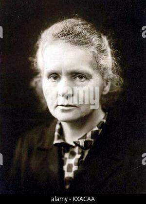 Marie Curie Marie Skłodowska Curie (/ˈkjʊəri/;[3] French: [kyʁi]; Polish: [kʲiˈri]; born Maria Salomea Skłodowska - Stock Photo