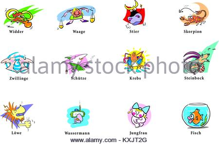 Horoscope sign in the overview - Stock Photo