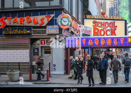 Stardust Diner Restaurant Usa New York City Manhattan Times Stock Photo Royalty Free Image