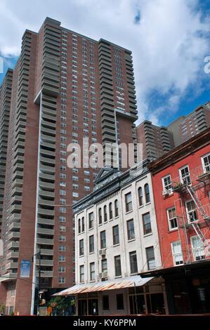 Emergency exit, Fire Escape, Harrison street, Tribeca, Manhattan, New York City, New York. USA - Stock Photo