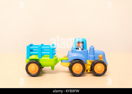 Child tractor with trailer - Stock Photo