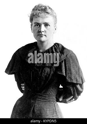 Marie Curie. The Nobel prize winning scientist, Marie Sklodowska Curie (1867-1934). Photo c.1894/5 - Stock Photo