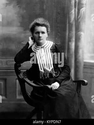 Marie Curie. The Nobel prize winning scientist, Marie Sklodowska Curie (1867-1934). Photo c.1903 - Stock Photo