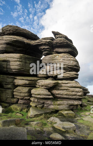 The Wheel Stones on Derwent Edge in the Peak District national park, Derbyshire, England. - Stock Photo