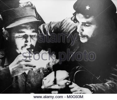 """Photograph of Ernesto """"Che"""" Guevara and Fidel Castro - Stock Photo"""
