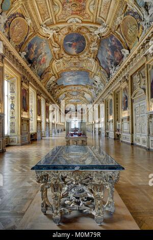 France paris louvre apollo gallery decorated ceiling stock photo royalty free image - Museum decorative arts paris ...