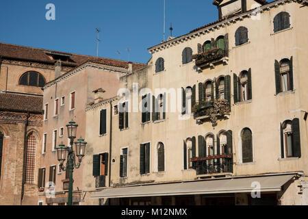 Campo San Stefano, San Marco, Venice, Italy. - Stock Photo