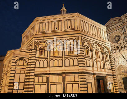 Europe,Italy,Tuscany,Florence,Baptistery of San Giovanni,in Duomo Square - Stock Photo