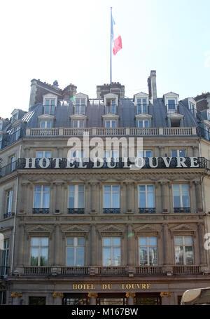 Hotel du Louvre, a Hyatt hotel, Paris, France. - Stock Photo