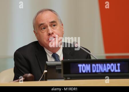 New York, NY, USA. 31st Jan, 2018. United Nations, New York, USA, January 31 2018 - Thomas P. DiNapoli the Comptroller - Stock Photo