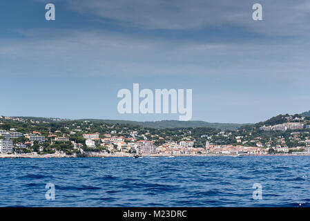 City of Cassis seen from the sea, France, summer - Stock Photo