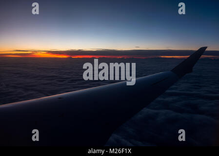 view from the airplane - Stock Photo