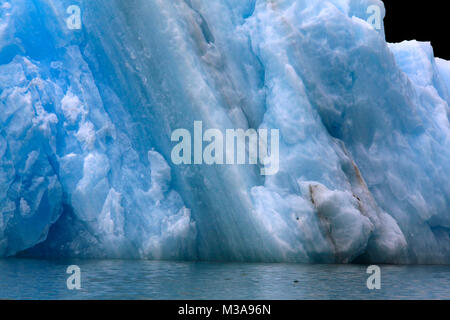 Photo of icebergs in LeConte Bay which have broken away from the LeConte Glacier, Stikine River, Alaska, USA - Stock Photo