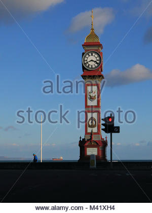 The Jubilee Clock Tower on the seafront in Weymouth Dorset UK - Stock Photo