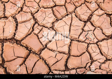 Dry clay soil in Lanzarote - Stock Photo