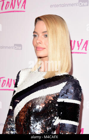 London, UK. 15th Feb, 2018. Margot Robbie attending The UK PREMIERE of I, TONYA at the Curzon Mayfair London Thursday - Stock Photo
