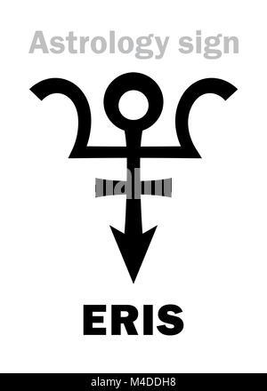 Astrology: planet ERIS - Stock Photo