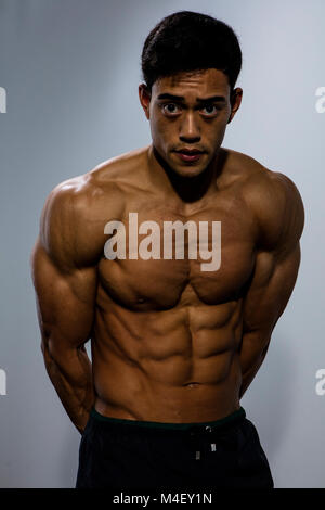Male Arms With Flexed Biceps Muscles Stock Photo 87233142 Alamy
