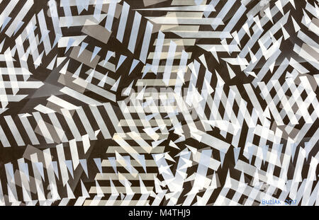 Abstract artwork by Ed Buziak - France. - Stock Photo