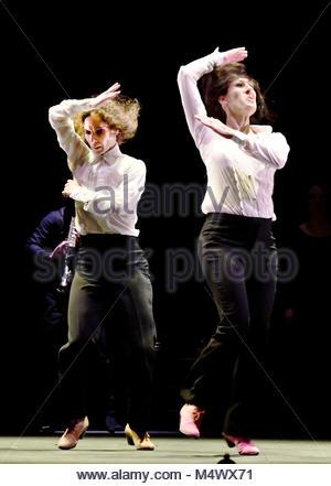 London, UK. 18th Feb, 2018. Flamenco Festival London at Sadlers Wells London UK Leonor Leal Ursala and Tamara Lopez - Stock Photo