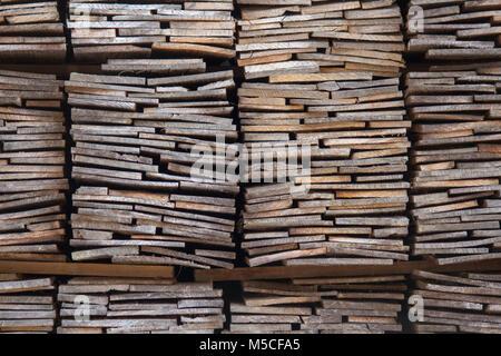 Wooden planks outside the Hida Minzoka Mura Folk Village (Hida no Sato), nearTakayama, Japan. - Stock Photo