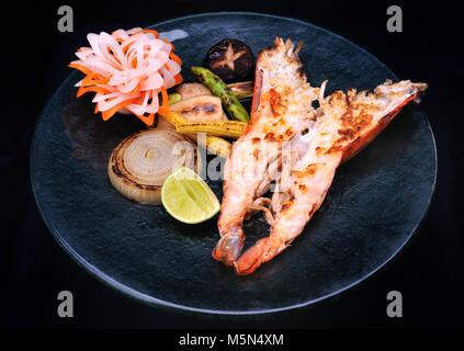 Japan food teppan yaki - Stock Photo