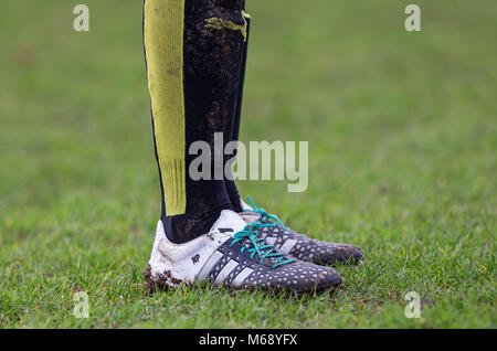 Nicole Pepper of Watford Ladies socks & boots during the SSE Women's FA Cup 3rd Round match between Watford Ladies - Stock Photo