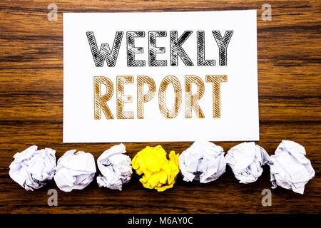 Ausgezeichnet Weekly Report Writing Ideen - Bilder für das ...