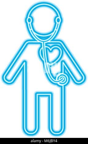 Illustration Of A Male Medical Doctor With Stethoscope Standing