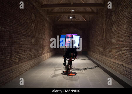 London, UK. 5th March, 2018. American video artist Sondra Perry's first ever solo show, Typhoon Coming On,  at the - Stock Photo