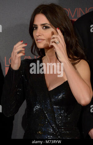 MADRID, SPAIN - MARTCH 07: Penelope Cruz attends 'Loving Pablo' Premiere at Callao Cinema on March 7, 2018 in Madrid, - Stock Photo