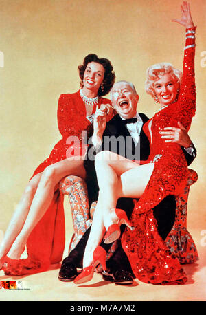 GENTLEMEN PREFER BLONDES 1953 20th Century Fox film with from left: Jane Russell, Charles Coburn, Marilyn Monroe - Stock Photo