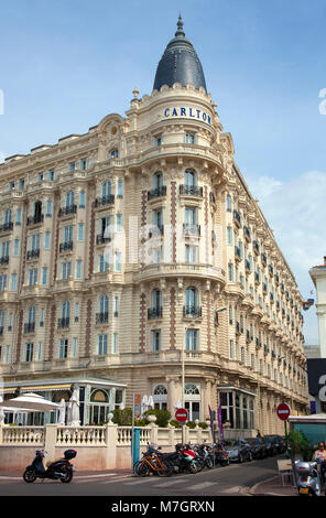 Hotel Carlton Intercontinental, Cannes, french riviera, South France, France, Europe - Stock Photo