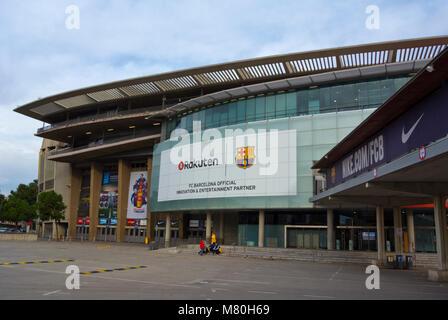 FC Barcelona football stadium, Camp Nou, Barcelona, Catalonia, Spain - Stock Photo